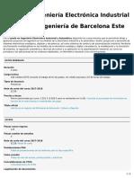 Grado en Ingeniería Electrónica Industrial y Automática (EEBE)