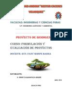 Proyecto de Biogás Generacion de Gas Mediante Estiercol de Animal y Materia Organca
