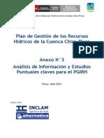Anexo 3 - Análisis de Información y Estudios Puntuales Claves Para El PGIRH (Chira-Piura, 2013)