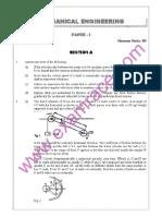 IAS Mains Mechanical Engineering 1989