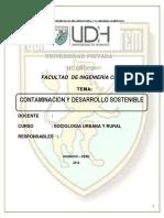 Monografia de Contaminacion y Desarrollo Sostenible
