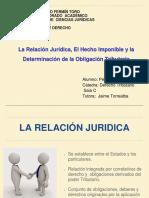 Relación Jurídica, Hecho Imponible y Determinación de La Obligación Tributaria