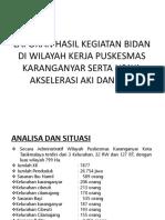 Power Point Laporan Hasil Kegiatan Bidan Di Wilayah Kerja Puskesmas Bu Nananan
