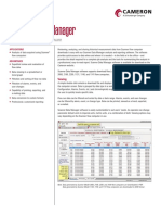 Cameron Scanner Data Manager Software Data Sheet