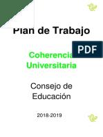 Coherencia Consejo de Educación 2018-2019
