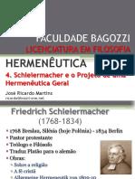 4. Schleiermacher e o Projeto de Uma Hermenêutica Geral
