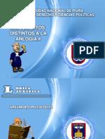 ARGUMENTOS DISTINTOS A LA ANALOGÍA - LÓGICA JURÍDICA