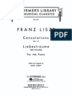 FLiszt Consolations and Liebesträume for the Piano LMC341