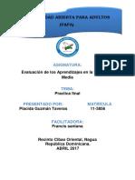 PLACIDA G.T TRABAJO FINAL de Evaluación de Los Aprendizajes en La Educación Basica