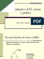 Árvores AVL