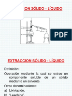 EXPOSICION Extracción Sólido - Líquido