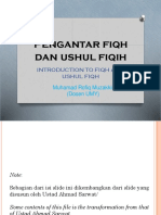 Introduction to Fiqh and Ushul Fiqh