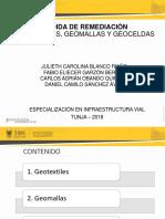 Exposicion Geotextiles, Geomallas, Geoceldas Fabio-Julieth-Carlos-Daniel