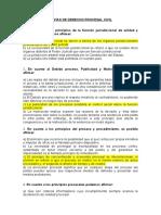 Banco de Preguntas- Derecho Procesal Civil