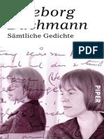 Ingeborg Bachmann-Sämtliche Gedichte-Piper (2016)