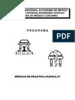 Programa de Estudos - Práctica Clínica IV