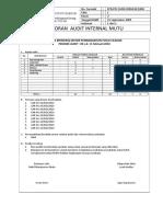 Laporan Audit Internal Mutu