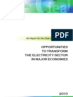 Electricity Sector Opportunities