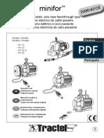 Manual Polipasto Winche Electrico