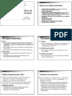 Conceptos básicos de Diseño de Experimentos