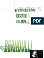 Clase Segunda Distribucion Bernoulli Binomial
