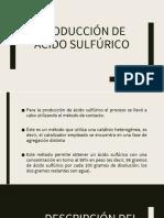 Producción de Acido Sulfúrico