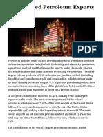 U.S. Refined Petroleum Exports - Mylo Trade
