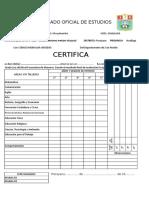 Formato Certificado de Estudios