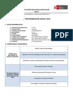 Modelo de Programación Anual Química 3° secundaria