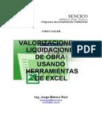 VALORIZACIONES Y LIQUIDACIONES DE OBRA USANDO HERRAMIENTAS DE EXCEL.pdf