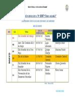 Calendario Civico Mayo 2018