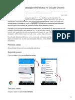 Como ativar a visualização simplificada no Google Chrome para Android