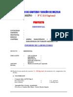Diseño Mezcla Inf 210