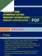 Menggagas Format Kepemimpinan Nasional