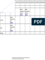 Timetable SP18