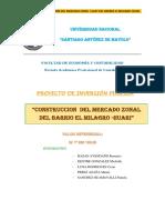 Construccion Del Mercado Zonal Cajay Del Barrio El Milagro