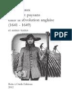 Os Cangaceiros - Les Radicaux Urbains Et Paysans Dans La Révolution Anglaise (1641-1649) Et Autres Textes