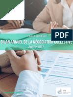 Bilan annuel 2017 de la négociation collective