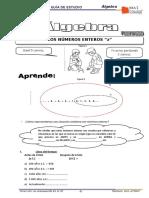 Algebra 4to Grado - I - Bimestre - 2018