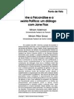 Jane Flax - Entre a psicanálise e a teoria política