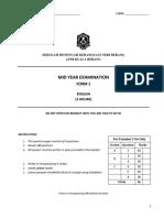Mid Year Exam Form1 2018 New