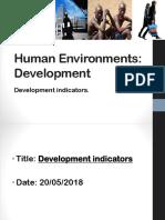 Development indicators lesson 1+2