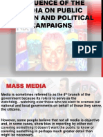 Influence of the Media on Public Opinion Political Campaigns Powerpoint (1)