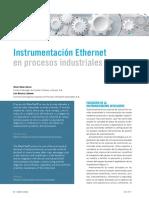 Artículo - Instrumentación Ethernet en Procesos Industriales