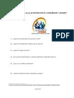 36. Cuestionario Ley de Protección Al Consumidor