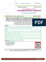 PREVALANCE OF HBV, HCV AND HIV IN PUNJAB