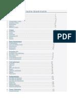 Übersicht Deutsche Grammatik Index