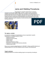 Welding Programs and Welding Procedures