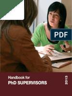 Handbook for PhD Supervisors 2013