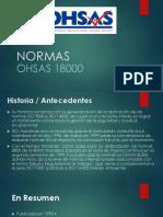 Normas OHSAS 18000- Presentacion